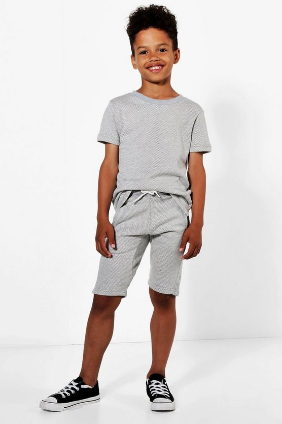 Boys Textured Sweat Short