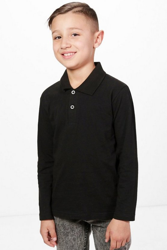 Boys Long Sleeve Polo Top