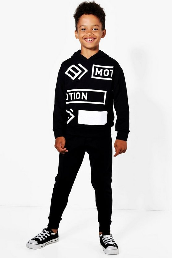 Boys Motion Hooded Jogger Set