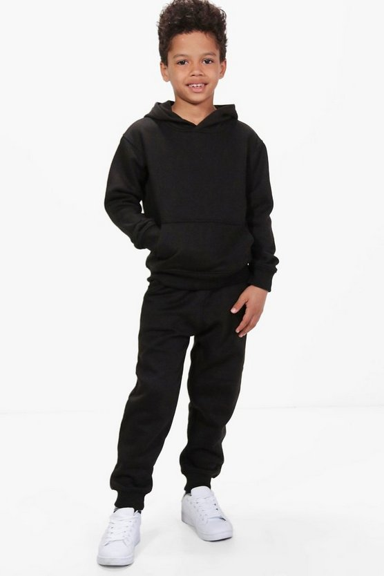 Boys Hooded Detailed Jogger Set
