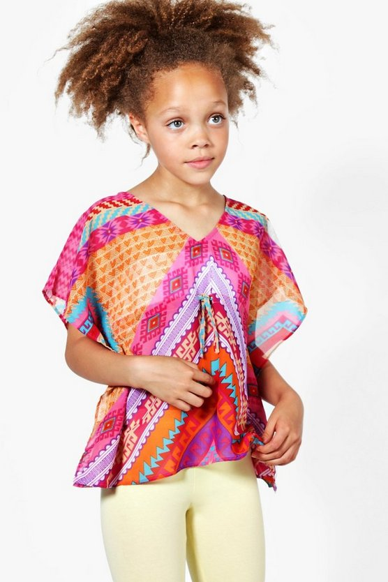 Girls Bright Beach Kaftan