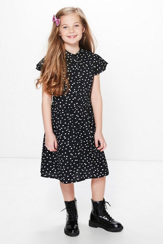 Girls Polka Dot Shirt Dress