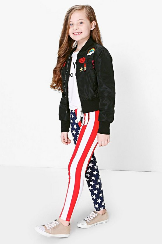 Girls Stars And Stripes Leggings