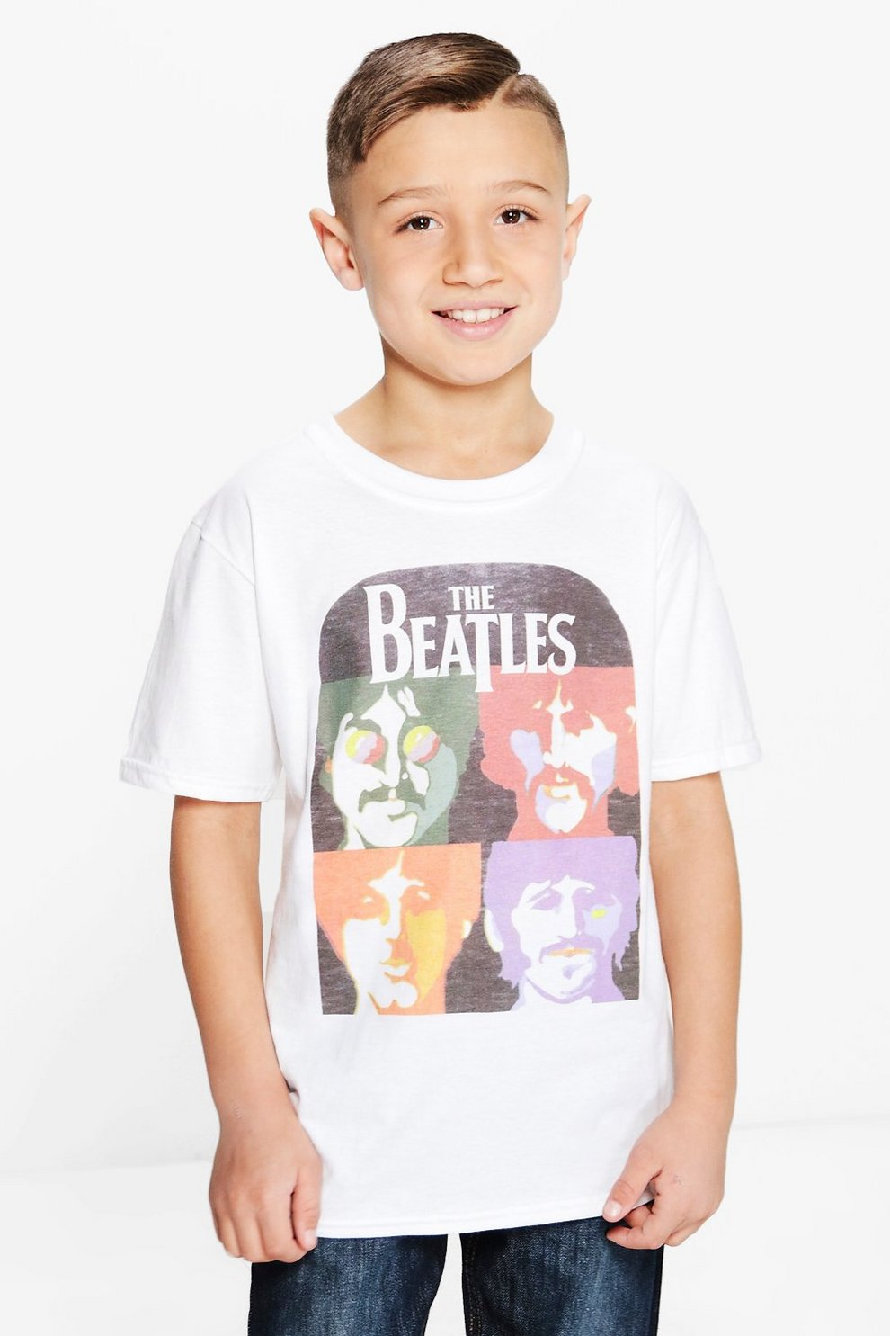 660323e11 camiseta de los beatles para niño