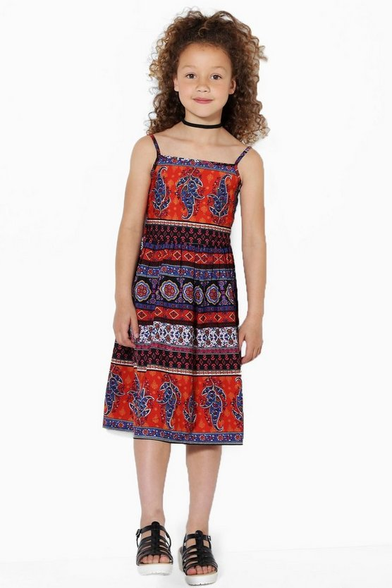 Girls Boho Summer Dress