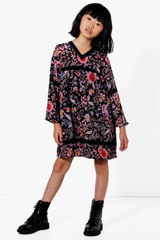 Girls Floral Boho Dress