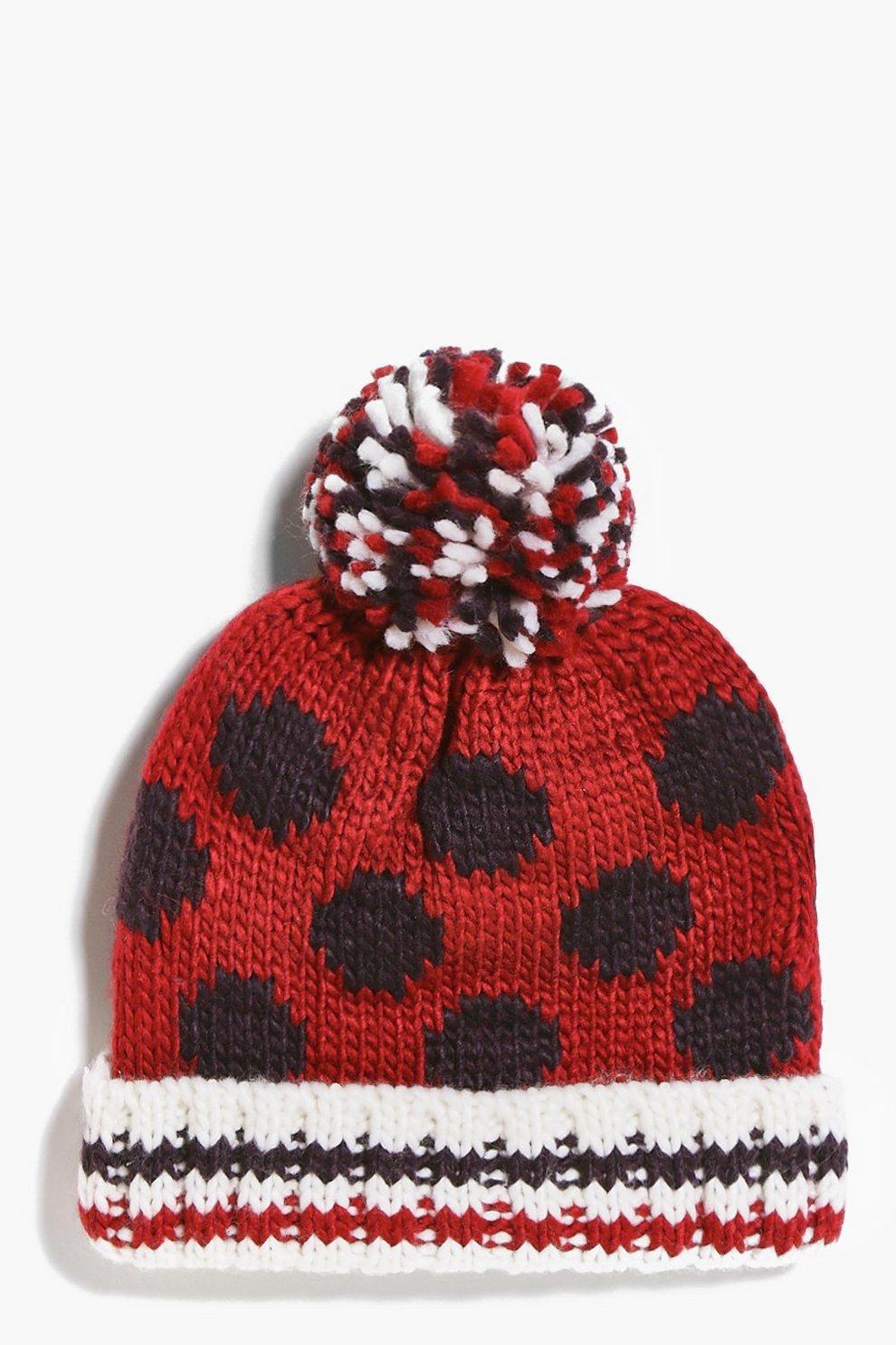 fbd786236d9 Girls Spotty Pom Pom Hat