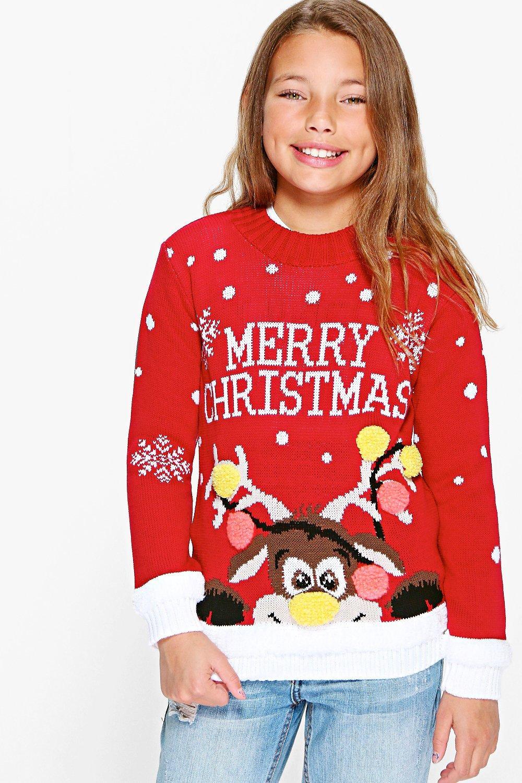 metà fuori 6567c dea45 pullover natalizio bambina merry christmas | Boohoo