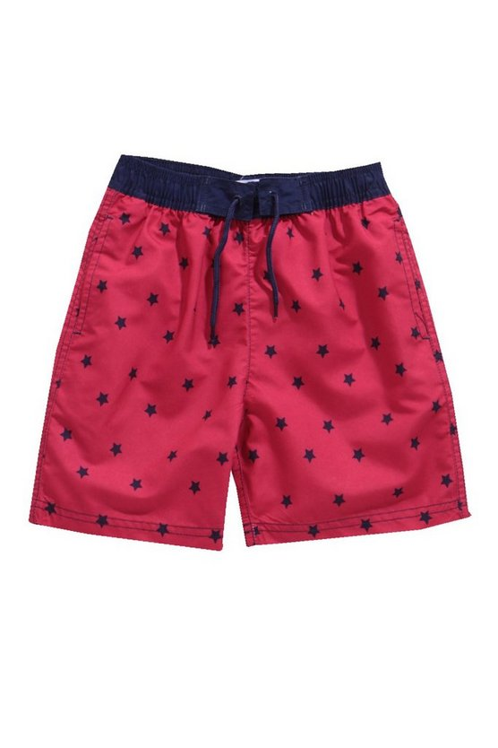 Boys Star Print Swim Shorts