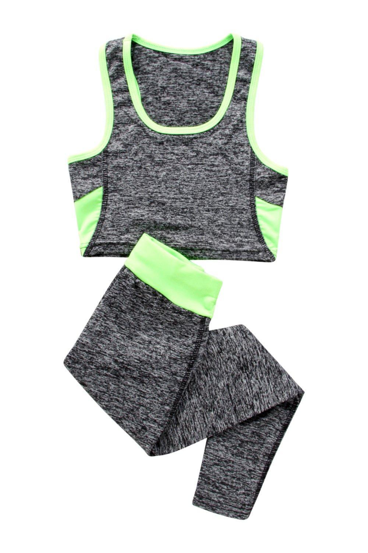 9c2c007100dd7 Boohoo Womens Girls Sports Crop Top And Legging Sports Set | eBay