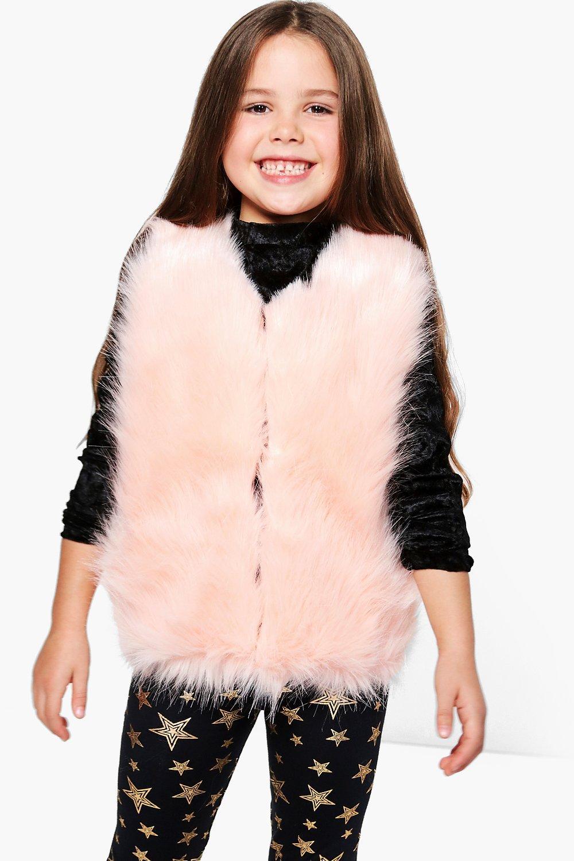 ac5de073 Womens Blush Girls Faux Fur Gilet. Hover to zoom