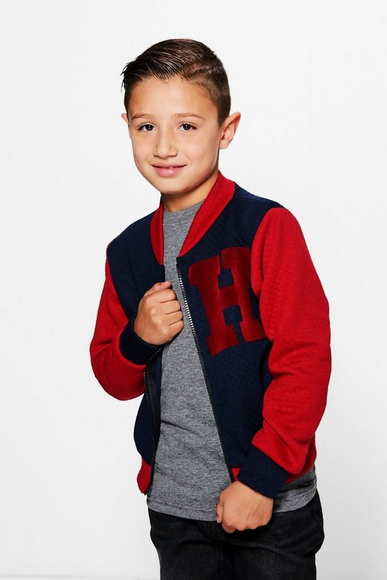 Boys Varsity Quilted Jacket