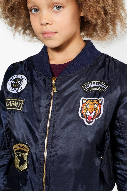 NEW-Boohoo-Womens-Girls-MA1-Badged-Bomber-Jacket-in