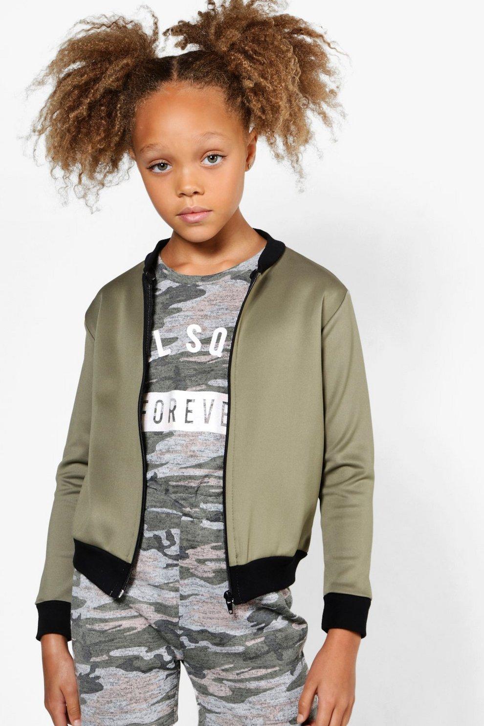7ea9b73efaf4 Girls Scuba Bomber Jacket | Boohoo