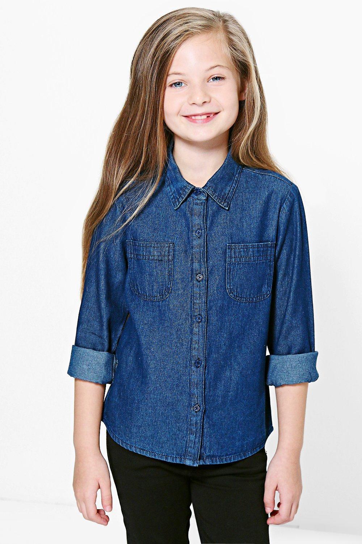 6820f7c670c Womens Indigo Girls Denim Shirt. Hover to zoom