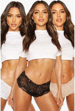Black 3 Pack Lace Shorts