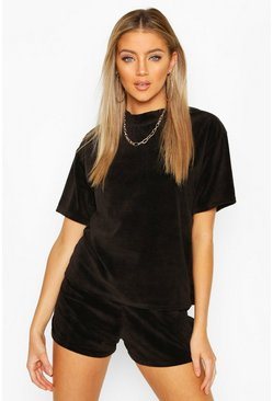 Black Premium Velour T-Shirt