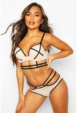 Strapping Longline Super Push Up Bra, Nude