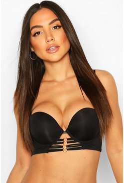 Black Ring Strapping Super Push Up Balconette