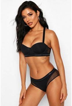 Fishnet Hipster, Black, DAMEN