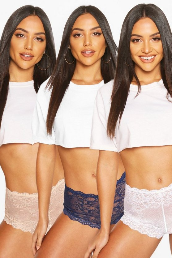 3 Pack Lace Shorties