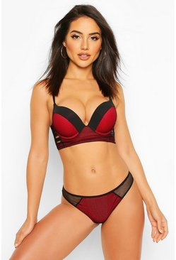 Red Fishnet Suspender Knicker