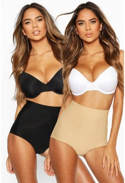 Womens Multi 2 Pack High Waist Control Shape Brief