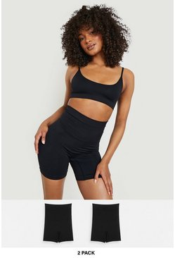 Black 2 Pack High Waist Control Short