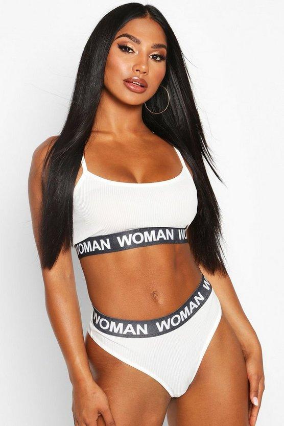 Woman Elasticated Bralet & Knicker Set