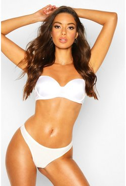 Womens White Smoothing Strapless Bra