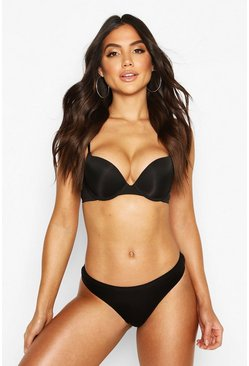 Black Smoothing Plunge Bra