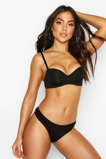 Black Smoothing Strapless Bra