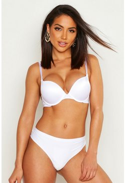 Womens White Super Push Up Bra