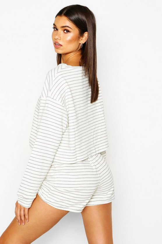 Soft Stripe Lounge Short