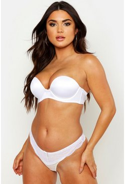 Dam White Super Push Up Strapless Bra