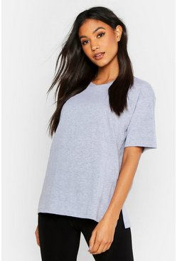 Womens Grey marl Mix and Match Soft Jersey Lounge Tee