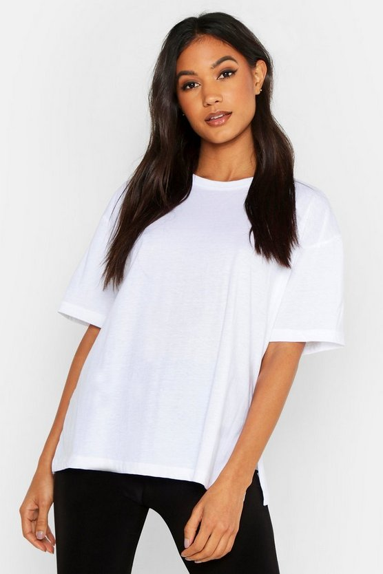 Womens White Mix and Match Soft Jersey Lounge Tee