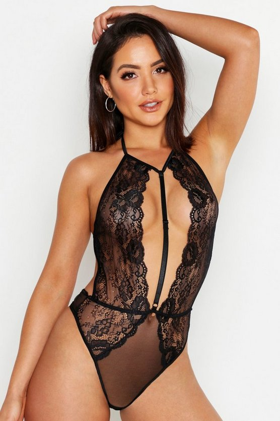 Super Plunge Choker Body by Boohoo