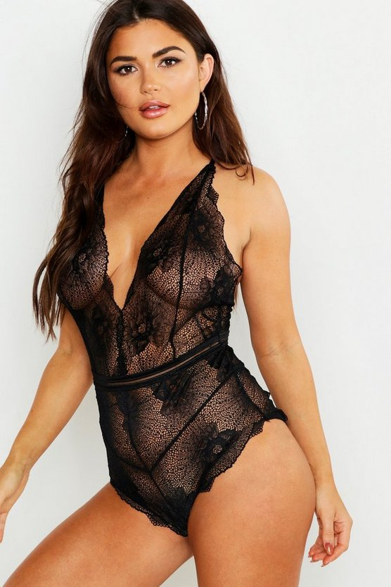 Black Cross Beach Strap Lace Body