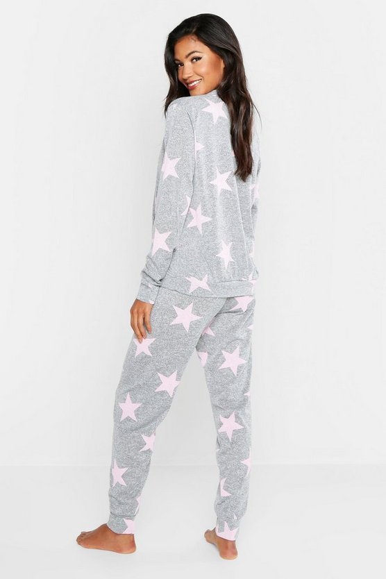 Star Print Sweat & Jogger Set