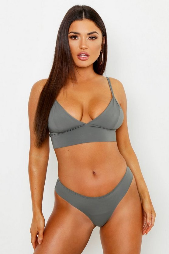 Grey Seamfree Bra & Knicker Set