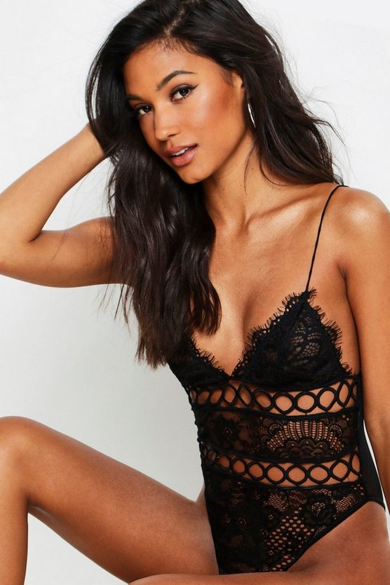 Cutout Lace Body