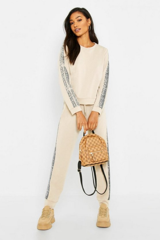 Tonal Snake Stripe Lounge Set