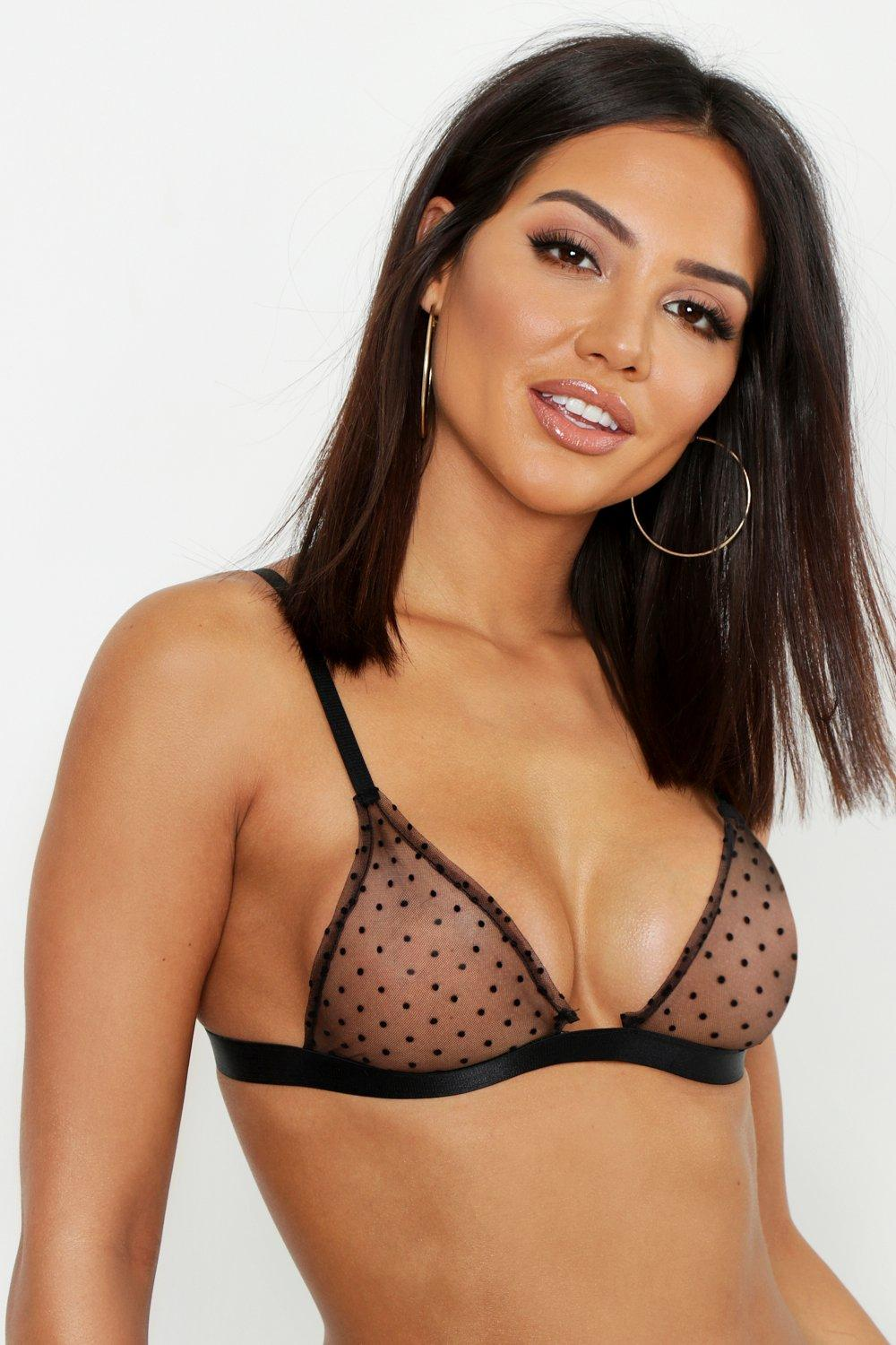 Mini Spot Mesh Triangle Bralet