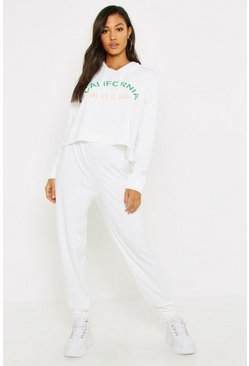 Womens Cream California Hooded Lounge Set