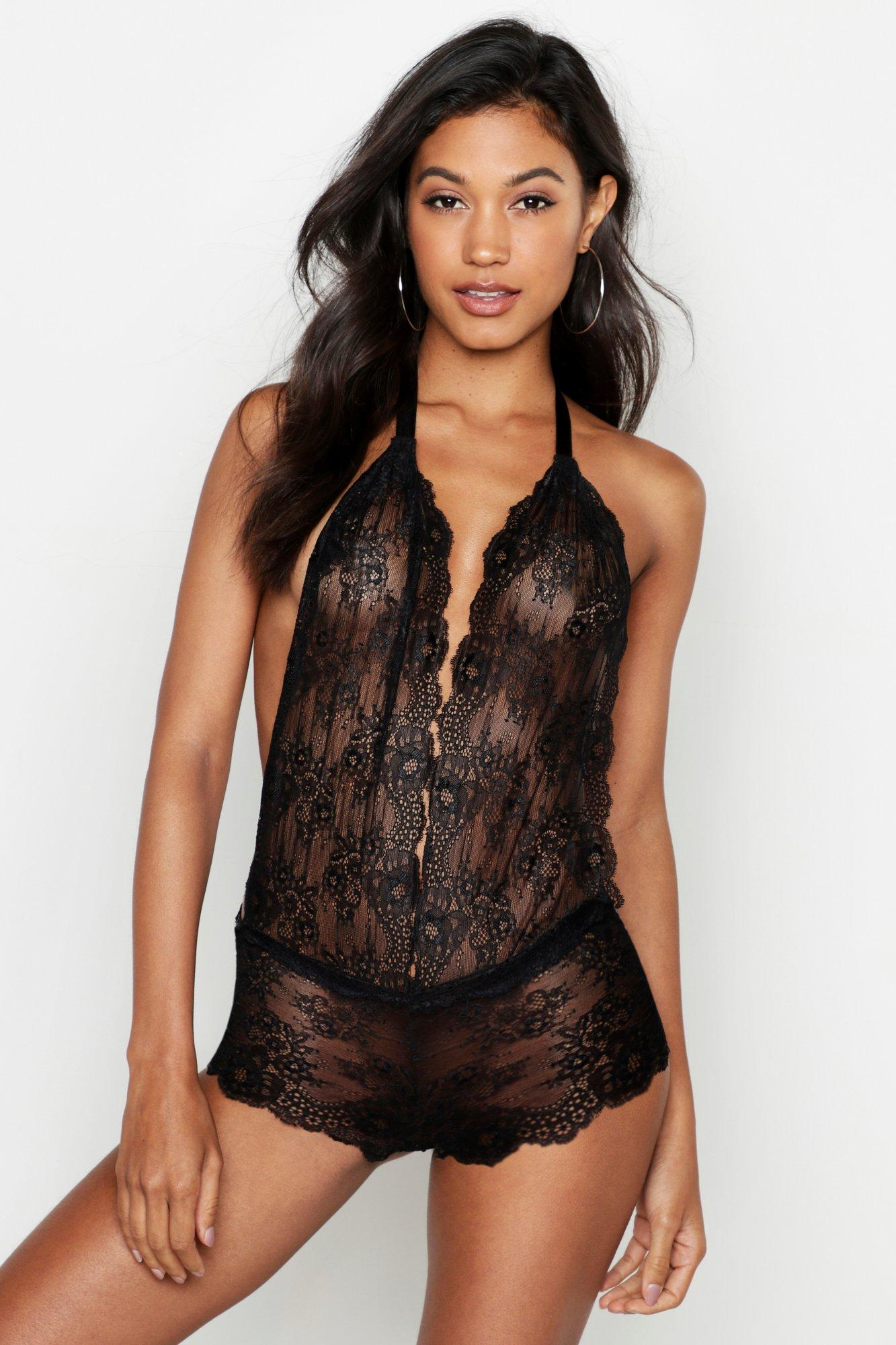 Plunge Low Back Lace Body