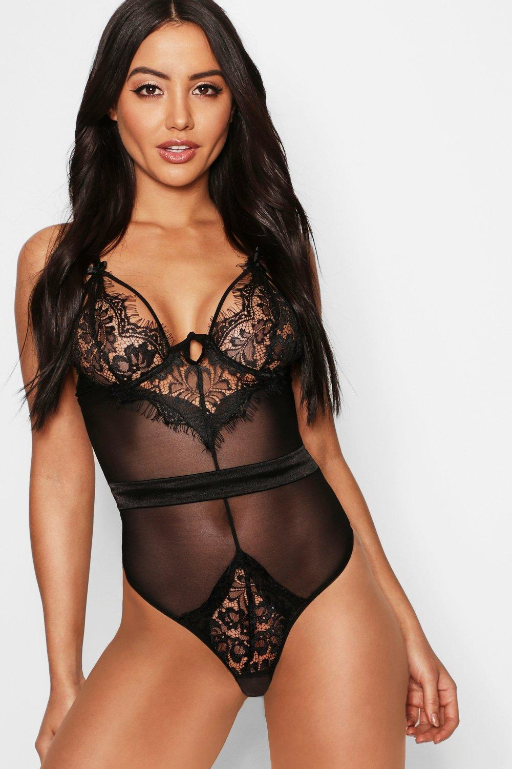 Wired Eyelash Lace & Satin Body