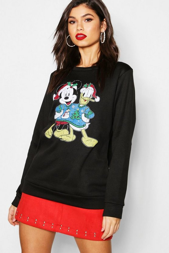 Disney Christmas Mickey & Donald Sweatshirt