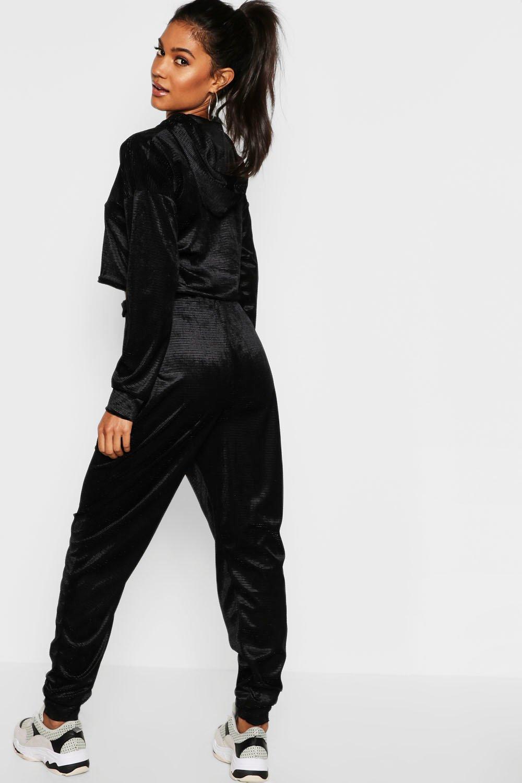 Sortenstile von 2019 weltweit verkauft Bestbewertet authentisch Trainingsanzug aus Samt mit Rippenmuster   Boohoo