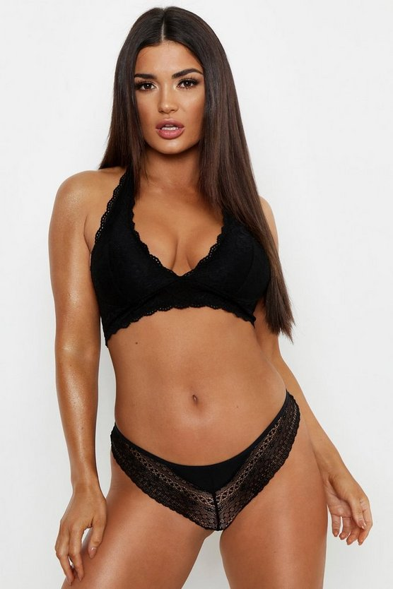 Black Cross Back Cut Out Brazilian